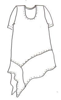Upcycled Eco Kleid Shabby Chic Boho Patchwork Gypsy TShirit Tunika, grau schwarz Hi . Sewing Hacks, Sewing Tutorials, Sewing Crafts, Sewing Diy, Diy Clothing, Sewing Clothes, Sewing Patterns Free, Clothing Patterns, Free Sewing
