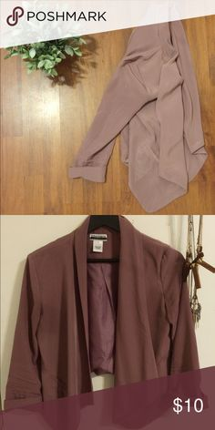 Mauve Cascade Blazer This super chic fly-away style blazer is an essential for the fashionista/city girl in you! Contempo Jackets & Coats Blazers