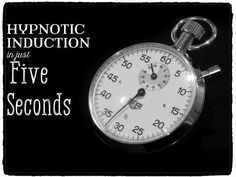 A look into rapid hypnotic induction, this guide demonstrates two ways to put someone into a quick trance.