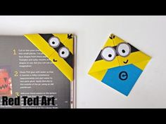 Minion Crafts - Corner Bookmarks - Red Ted Art's Blog