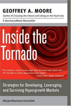 Inside the Tornado: This book expands upon Moore's theories of high-tech marketing.  Moore focuses on how to expand your business following success gained from reading his first book, Crossing the Chasm.