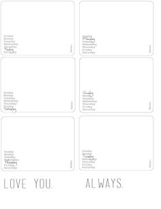 Laura Rahel: Free Project Life Printables!