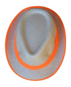 b473d0a8df76 Womens Brights Lined Fedora Cap Bowler Hat (Bright Orange) at Amazon  Women's Clothing store: