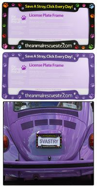 """""""Save a Stray"""" License Plate Frame at The Animal Rescue Site"""