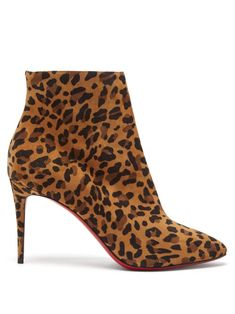 Get the must-have boots of this season! These Christian Louboutin Leopard Eloise 85 Print Suede Ankle Boots/Booties Size EU 38 (Approx. US Regular (M, B) are a top 10 member favorite on Tradesy. Save on yours before they're sold out! Lace Up Heel Boots, Suede Ankle Boots, Ankle Booties, Heeled Boots, Bootie Boots, Louboutin Boots, Christian Louboutin Shoes, Ankle Heels, Stiletto Heels