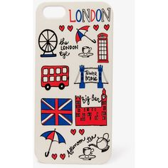 FOREVER 21 London Graphic Phone Case ($7.80) ❤ liked on Polyvore