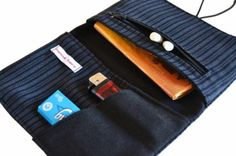 Tabaquera unisex Textiles, Pouch Bag, Unisex, Embroidery, Sewing, Crochet, Jeans, Cigarette Case, World Crafts
