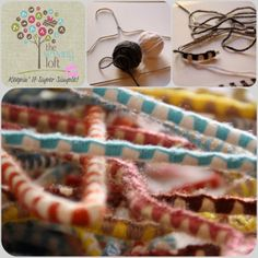 {KISS How To} Hangers - Macrame Style - The Sewing Loft Yarn wrapped hangers like Grandmommy Pete made! Cute Crafts, Yarn Crafts, Sewing Crafts, Plastic Hangers, Metal Hangers, Diy Crafts For Teen Girls, Crafts For Kids, Yarn Projects, Sewing Projects
