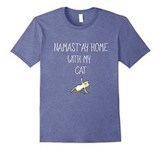 cat gym shirts - Mens Namastay home yoga with my cat gym T-Shirt meditation fun Small Heather Blue * To view further for this item, visit the image link. (This is an affiliate link) Cat Gym, Gym Shirts, Meditation, Image Link, Yoga, Cats, Mens Tops, T Shirt, Fun