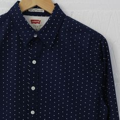 Levi's Long Sleeve Powell Shirt (Dress Blues) from new-entry.com #levis #shirting #newentry