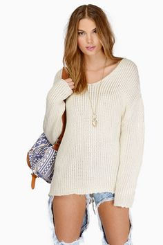 Tie Me On Up Sweater