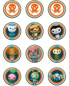 Instant Download, Octonaut Cupcake Toppers: Digital Printed File on Etsy, $1.66 AUD