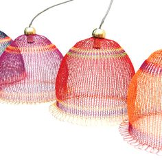 Wire weaved Lampshade in warm colors by Yoola on Etsy, $286.00