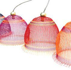Draht gewebte Lampenschirm in warmen Farben von Yoola auf Etsy