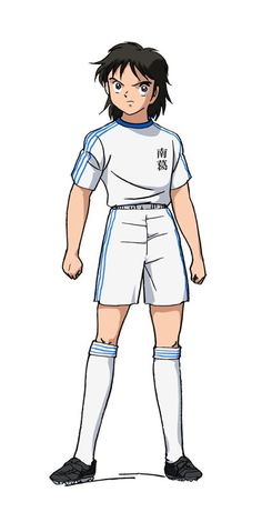 Images from Captain Tsubasa Introduces 5 Characters & Cast Captain Tsubasa, Old Anime, The New Wave, Anime Chibi, Cartoon Kids, Kuroko, Character Illustration, Cristiano Ronaldo, Me Me Me Anime