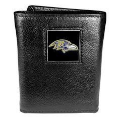 Men's Baltimore Ravens Trifold Wallet, Black