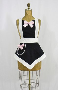 Sexy Modern French Maid Apron Veronica Apron by sugarnspiceaprons, $50.00