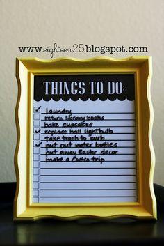 things to do frame - teacher appreciation gift - free printable