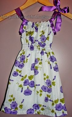 A new twist on a little girls pillowcase dress, this is very cute.