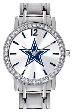 Game Time Watches 'NFL All Star - Dallas Cowboys' Crystal Bezel Bracelet Watch, 32mm available at #Nordstrom