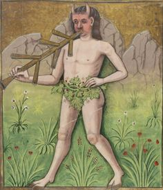 Bibliothèque nationale de France, Français 143, detail of f. 157r (Pan). Évrard de Conty, Échecs amoureux. France (Cognac), c. 1496-1498. Artist: Robinet Testard.