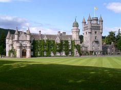 Balmoral Castle /bælˈmɒrəl/ is a large estate house in Royal Deeside, Aberdeenshire, Scotland.