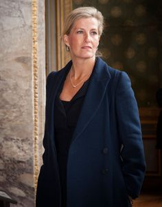 HRH Countess Sophie of Wessex at Chateau Fontainbleau in Paris in October wearing the new Crio Sliogan jewellery pieces by Martina Hamilton. Irish Jewelry, Royal Jewelry, Jewellery, Hamilton Jewelry, Paris In October, Shell, Her Majesty The Queen, Queen Elizabeth Ii, Duke And Duchess