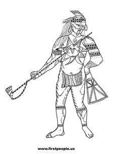 23 Best Coloring Pages/LineArt Native Americans images in