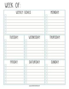 Lauren Taylor Made: Weekly Goals Checklist