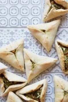 The moreish mezze: pea, feta, mint and parsley fatayer