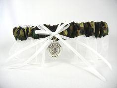 Army Wedding Garter - Army Bridal Garter - Military Bridal Garters for Air Force, Army, Marines, Navy and Coast Guard