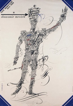 The death of the lieutenant - Franciszek Starowieyski Polish theater posters Polish Posters, Typography Inspiration, Vintage Posters, Death, Graphic Design, Gallery, Movie Posters, Image, Theater