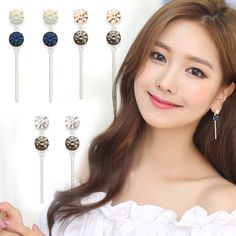 Celebrity Style Jewelry~Drop Earrings 925 Sterling Silvers Needle Made In Korea #WannaBeStones #DropDangle