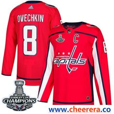 4b7bb7423 Adidas Washington Capitals  8 Alex Ovechkin Red Home Authentic Stanley Cup  Final Champions Stitched NHL