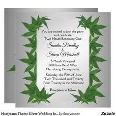 Marijuana Theme Silv