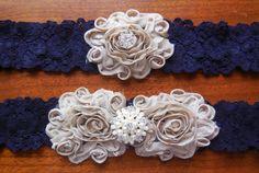 Navy Garter Blue GarterNavy Blue Garter by BloomsandBlessings, $20.00