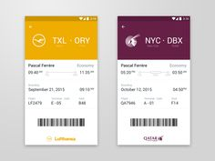 Boarding pass material design