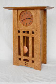 Craftsman Mantel Clock  Light Oak by MtAngelArtisanCopper on Etsy, $450.00