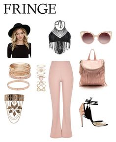 """""""Coachella fringe"""" by thefashionfreakslayer ❤ liked on Polyvore featuring Luli Fama, River Island, RHYTHM, WithChic, Accessorize, Red Camel and Cartier"""
