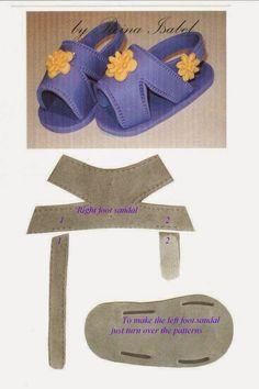 ARTE COM QUIANE - Paps,Moldes,E.V.A,Feltro,Costuras,Fofuchas 3D: molde sapatinho de bebê de eva