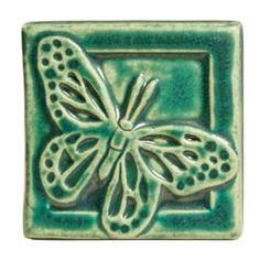 Pewabic Pottery Butterfly Tile - Detroit Institute of Arts Museum Shop Old Pottery, Pottery Art, Pottery Ideas, Detroit Art, Detroit Michigan, Pewabic Pottery, Craftsman Fireplace, Art Nouveau Tiles, Stencil Patterns