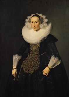 Portrait de Elisabeth van der Aa, par Thomas de Keyser