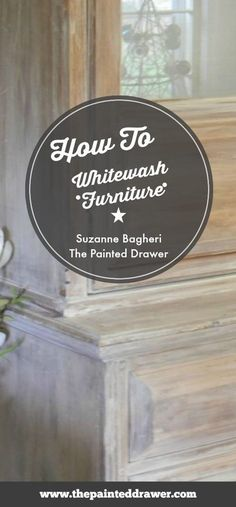 How to Whitewash Furniture Using Annie Sloan Old White Chalk Paint with Tutorial