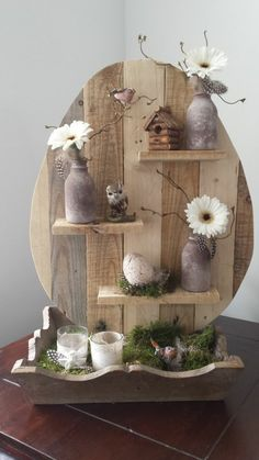 ▷ ideas for wooden Easter decorations in the house or garden - Craft ideas from wooden Easter decoration Informations About ▷ Ideen für Osterdeko aus Holz - Easter Crafts, Kids Crafts, Wood Crafts, Diy And Crafts, Easter Ideas, Easter Decor, Easter Table, Christmas Crafts, Diy Ostern