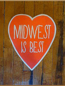 Midwest Is Best Screenprint on Wood Wall Decor by White Rabbit for sale at Domestica