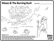 moses and the burning bush printables | Free Bible Coloring Pages ...