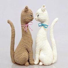 confeccion y venta de muñecos amigurumis tejidos en crochet: gata amigurumi tejida en crochet