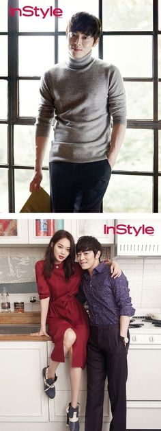 Jo Jung Suk and Shin Min Ah grace the cover of 'InStyle' | allkpop.com