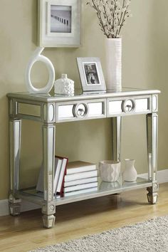Brushed Silver Sofa Table on @HauteLook