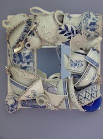 Teacup Mirror from broken china